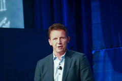 EMC Products and Marketing President Jeremy Burton  makes speech at EMC World 2014 Royalty Free Stock Photos