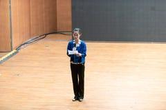 Emcee-ведущий танцор стоковое изображение rf