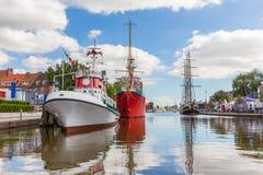 Emdenstad Nedersaksen Duitsland Stock Afbeeldingen
