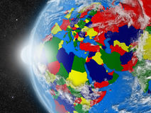 EMEA region continent from space Royalty Free Stock Image