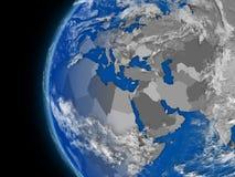 EMEA region on political globe Stock Photos