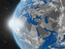 EMEA region from space Stock Photography