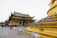 Emei mountain in Sichuan, China's golden dome Royalty Free Stock Photos