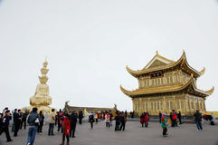 Emei mountain in Sichuan, China's golden dome Royalty Free Stock Photography