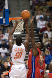 Emeka Okafor Goes To the Hole Royalty Free Stock Photography