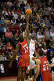 Emeka Okafor And Nazr Mohammed Jump Stock Photo