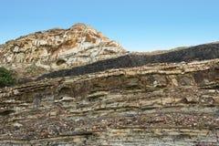 Emenda de carvão nas caras sedimentares Imagens de Stock