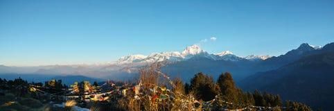 Emenda dos picos de Annapurana imagem de stock