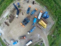 Emenda fhydraulic do equipamento especial que fratura no lugar da mineração do óleo fotos de stock