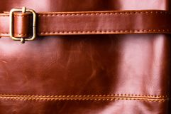 emendas na bolsa de couro Fotografia de Stock