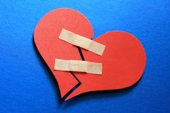 Emende um coração quebrado Foto de Stock