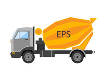 ?ement mixer machine. Autotruck  Tipping lorry  Tripper truck  icon isolated Tipping lorry. Autotruck  isolated.Buildi Royalty Free Stock Photography