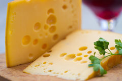 Free Emental Cheese And Wine Royalty Free Stock Photography - 28192827