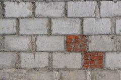 Emented vägg för Ð ¡ med skalningstegelstenar royaltyfri bild