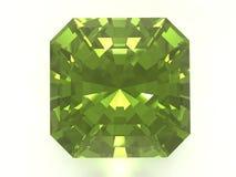 Emerald. Gemstone isolated on white background Royalty Free Stock Photo
