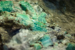 Emerald. Nord minerals of cola peninsula royalty free stock photography