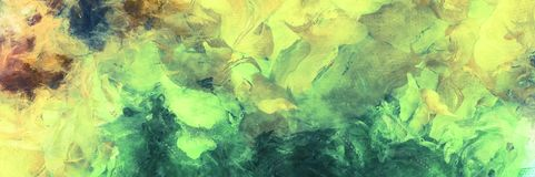 Emerald Abstract Painting Stock de ilustración