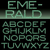 Emerald alphabet vector illustration