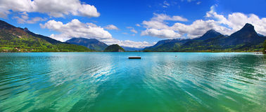 Emerald Austrian lakes Royalty Free Stock Photos