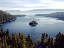 EMERALD BAY. View of Emerald Bay in Lake Tahoe,California royalty free stock photo