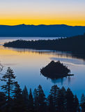Emerald Bay. Sunrise at Lake Tahoe California royalty free stock photography
