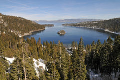 Emerald Bay. Fannette Island in Emerald Bay, South Lake Tahoe, California royalty free stock photography