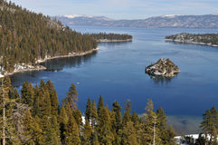 Emerald Bay. Fannette Island in Emerald Bay, South Lake Tahoe, California royalty free stock image