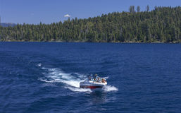 Emerald Bay Boating. Image taken on Emerald Bay on a warm summer day. Emerald Bay is located a few miles north of South Lake Tahoe stock photos