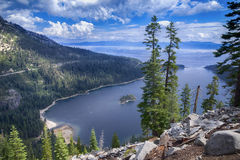 Emerald Bay Hike and Clouds. Lake Tahoe, California royalty free stock photo