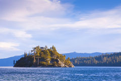 Emerald Bay Island. Fannette Island in Emerald Bay on Lake Tahoe stock photos