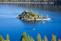 Emerald Bay island. Lake Tahoe California royalty free stock images