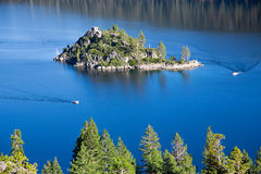 Emerald Bay island Stock Photography