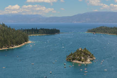 Emerald Bay, lac Tahoe, la Californie image libre de droits