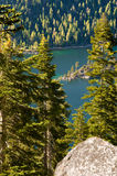 Emerald Bay, Lake Tahoe. The Spectacular view of Emerald bay, South Lake Tahoe from Inspiration point royalty free stock image