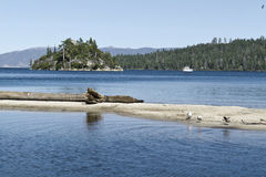 Emerald Bay, Lake Tahoe. Fannette Island in Emerald Bay, Lake Tahoe, California royalty free stock photography