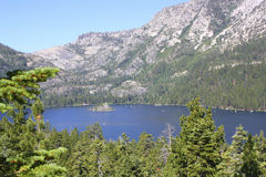 Emerald Bay, Lake Tahoe. Emerald Bay with a view of Fanette Island stock photos