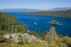 Emerald Bay, Lake Tahoe. California stock photos