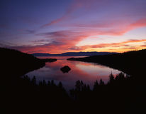 Emerald Bay, Lake Tahoe. The Emerald Bay part of Lake Tahoe just before sunrise royalty free stock photo