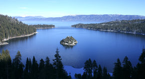 Emerald Bay, Lake Tahoe. Emerald Bay with Fannette Island, Lake Tahoe, California royalty free stock photos