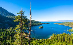Emerald Bay, Lake Tahoe. Beautiful Emerald Bay in South Lake Tahoe, California, USA stock photography