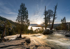Emerald Bay on Lake Tahoe with Lower Eagle Falls Stock Photography