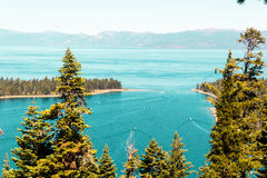 Emerald Bay and Lake Tahoe Royalty Free Stock Photography