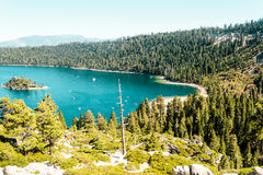 Emerald Bay and Lake Tahoe Stock Photo