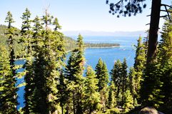 Emerald Bay of Lake Tahoe Royalty Free Stock Photos