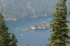 Emerald Bay, Lake Tahoe sul CA, EUA fotografia de stock
