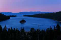 Emerald Bay at Lake Tahoe before sunrise, California, USA Stock Image