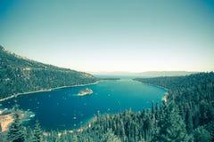 Emerald Bay Lake Tahoe Vintage stock afbeeldingen