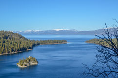 Emerald bay, Lake Tahoe in winter Stock Photo