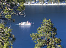 Emerald Bay Paddle Wheel. Image taken on Emerald Bay on a warm summer day. Emerald Bay is located a few miles north of South Lake Tahoe stock photography