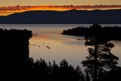 Emerald Bay Sunrise. At Lake Tahoe California royalty free stock photo